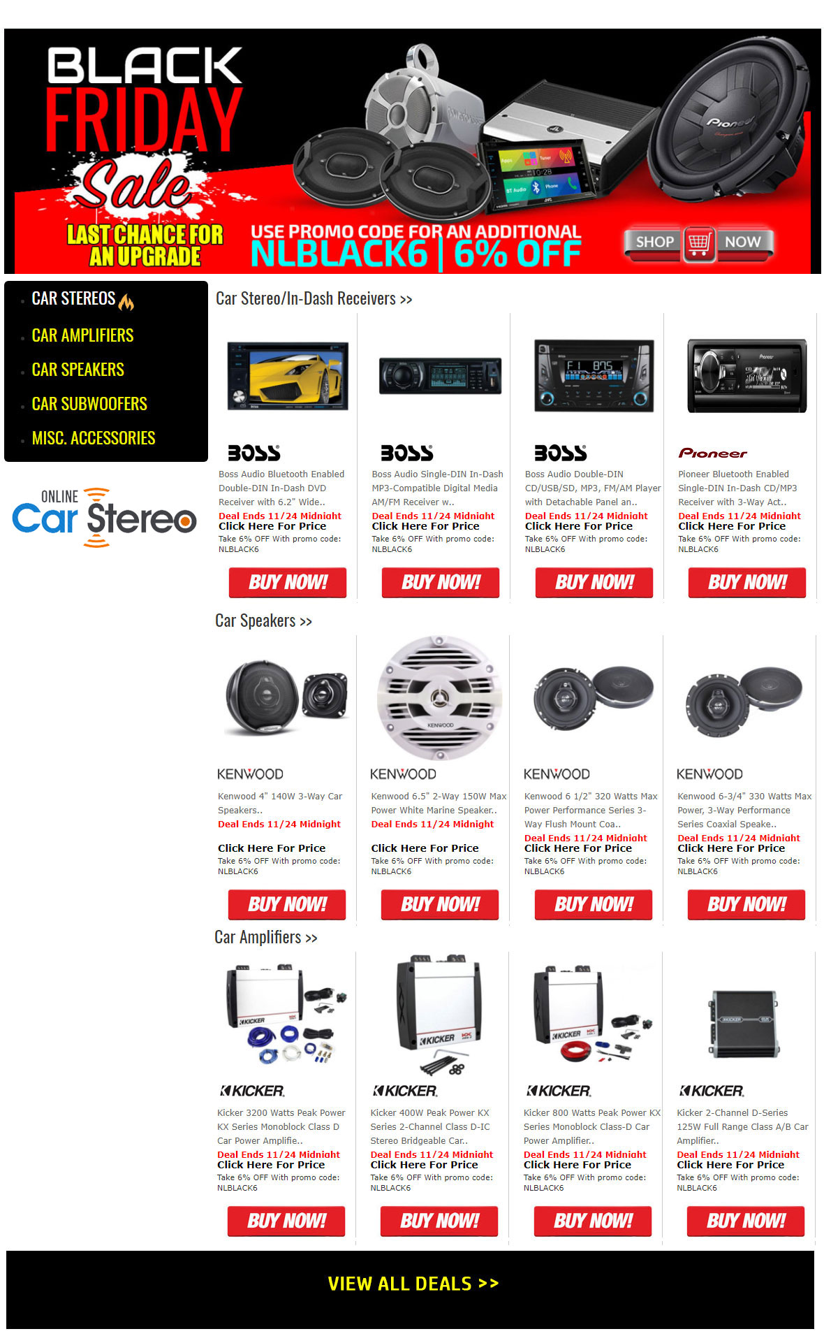 exclusive car audio coupon