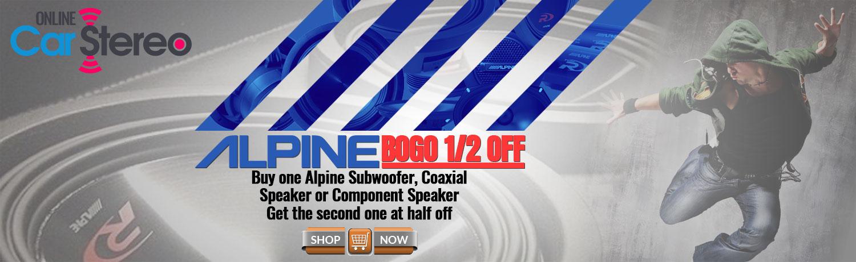 alpine car audio buy one get half off