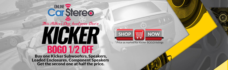 kicker car audio buy one get half off