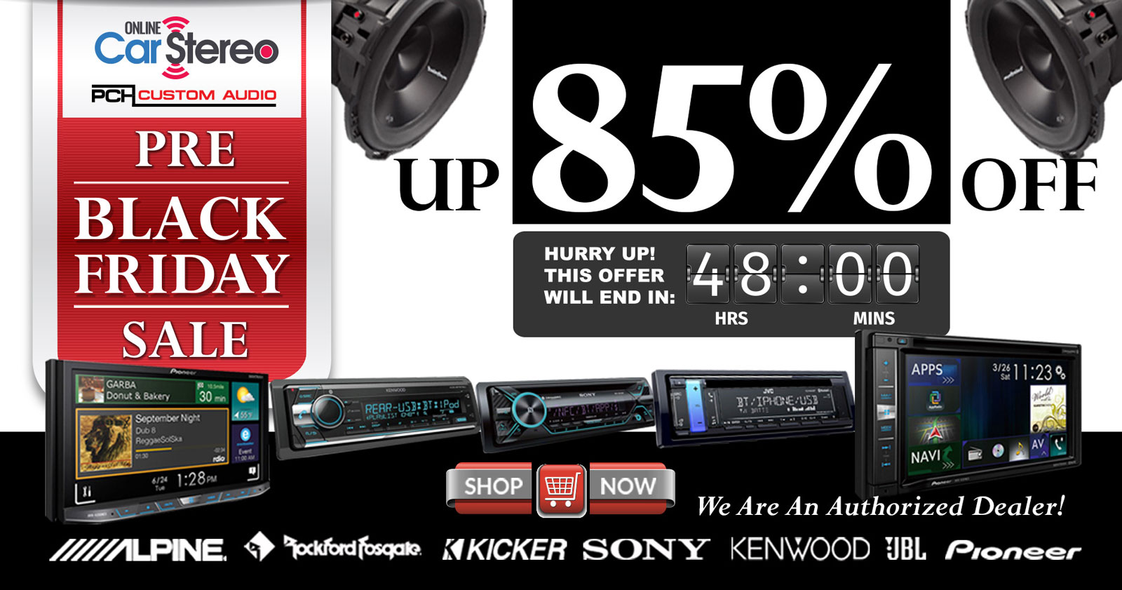 car audio winter sale