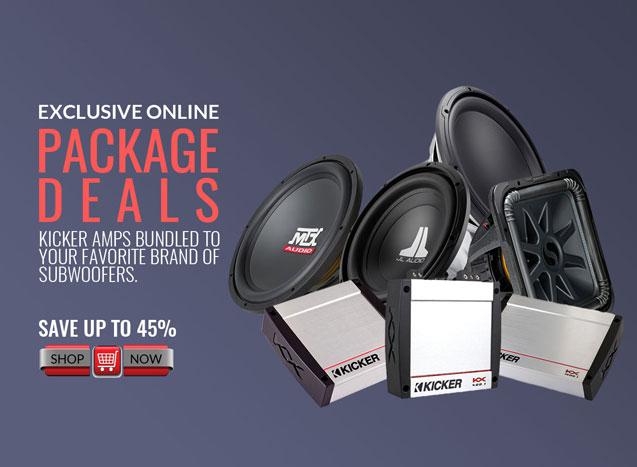 car audio package deals