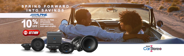 alpine 10% off car audio