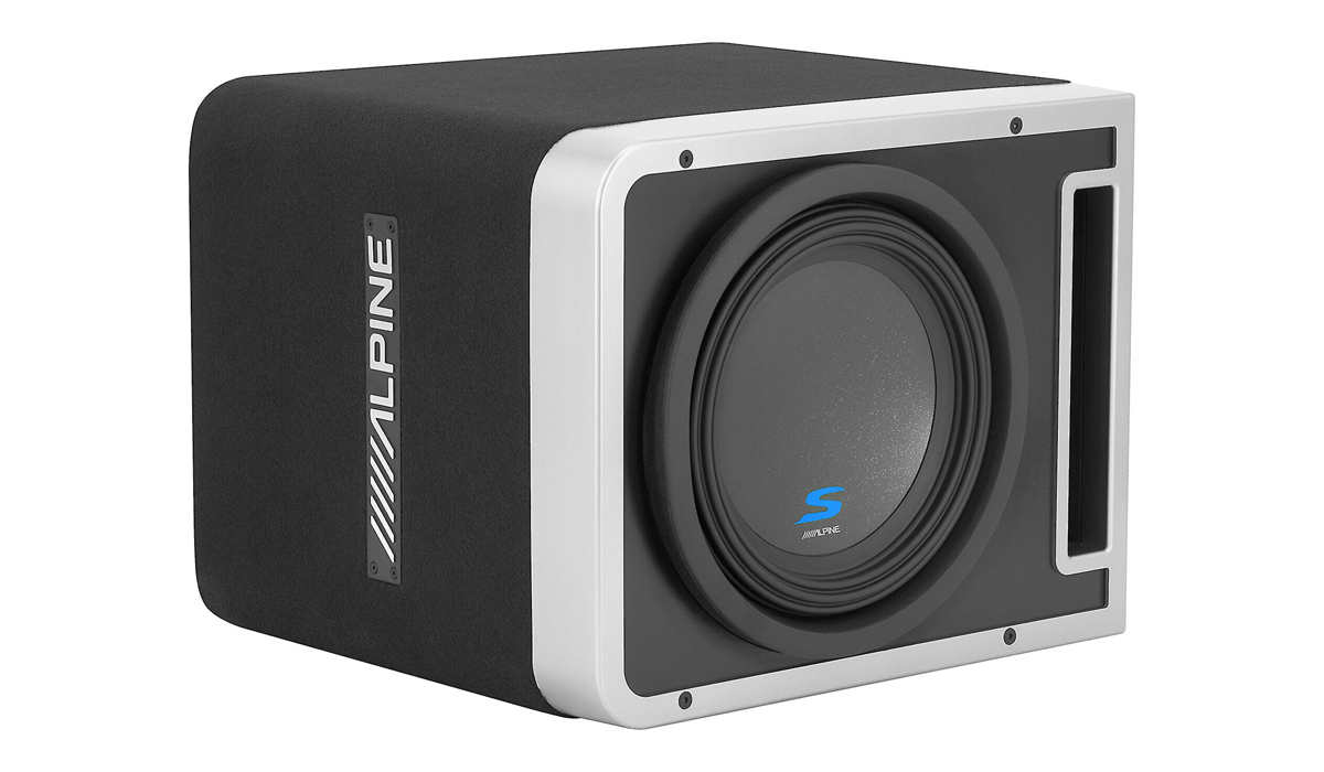 Alpine S-SB10V Halo Series 10 inch 600W RMS Pre-Loaded Subwoofer Enclosure