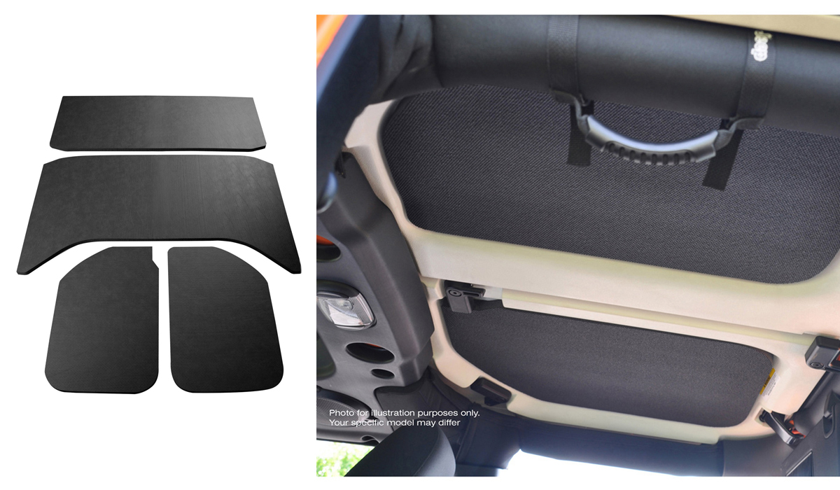 Sound Deadening Headliner 2011-2018 Wrangler JL 4-Door Black Leather Look - 0050159