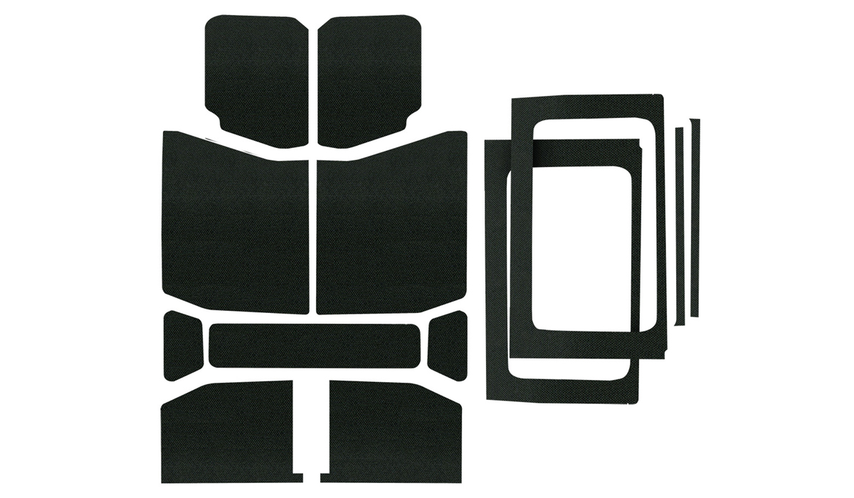 Sound Deadening HeadLiner & Window Kit Wrangler JL 4-Door Black Original Complete Kit - 050178