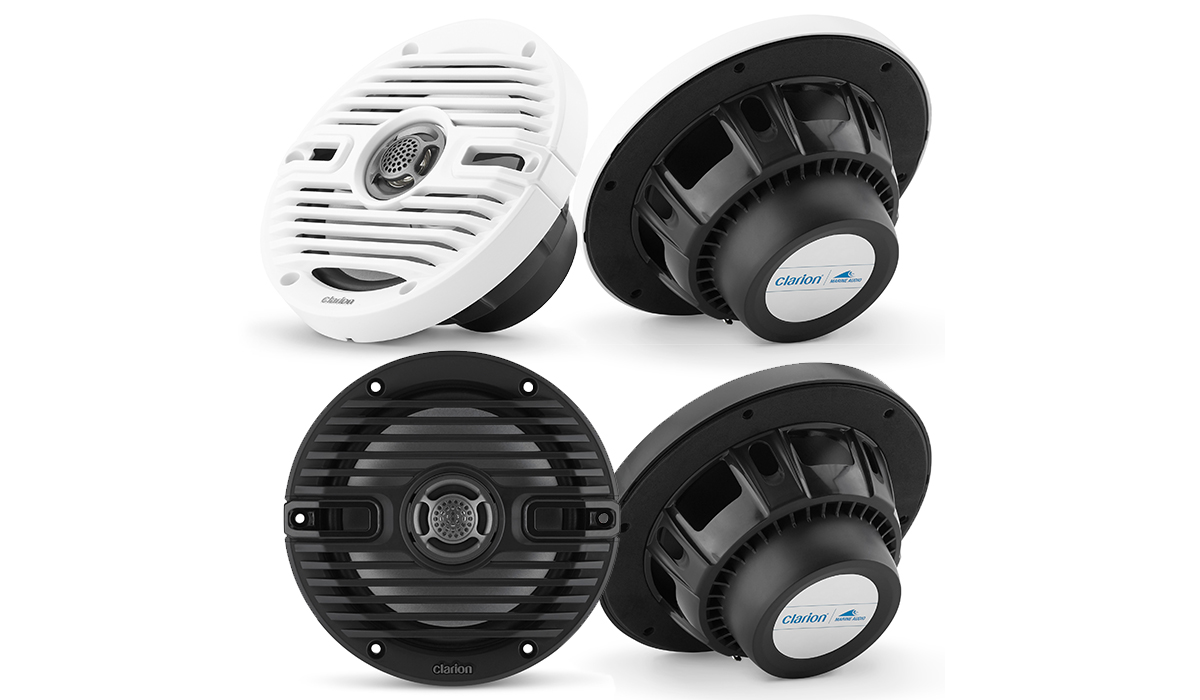 Clarion CMS-651-CWB 6.5 INCH MARINE COAXIAL SPEAKERS WITH CLASSIC GRILLES