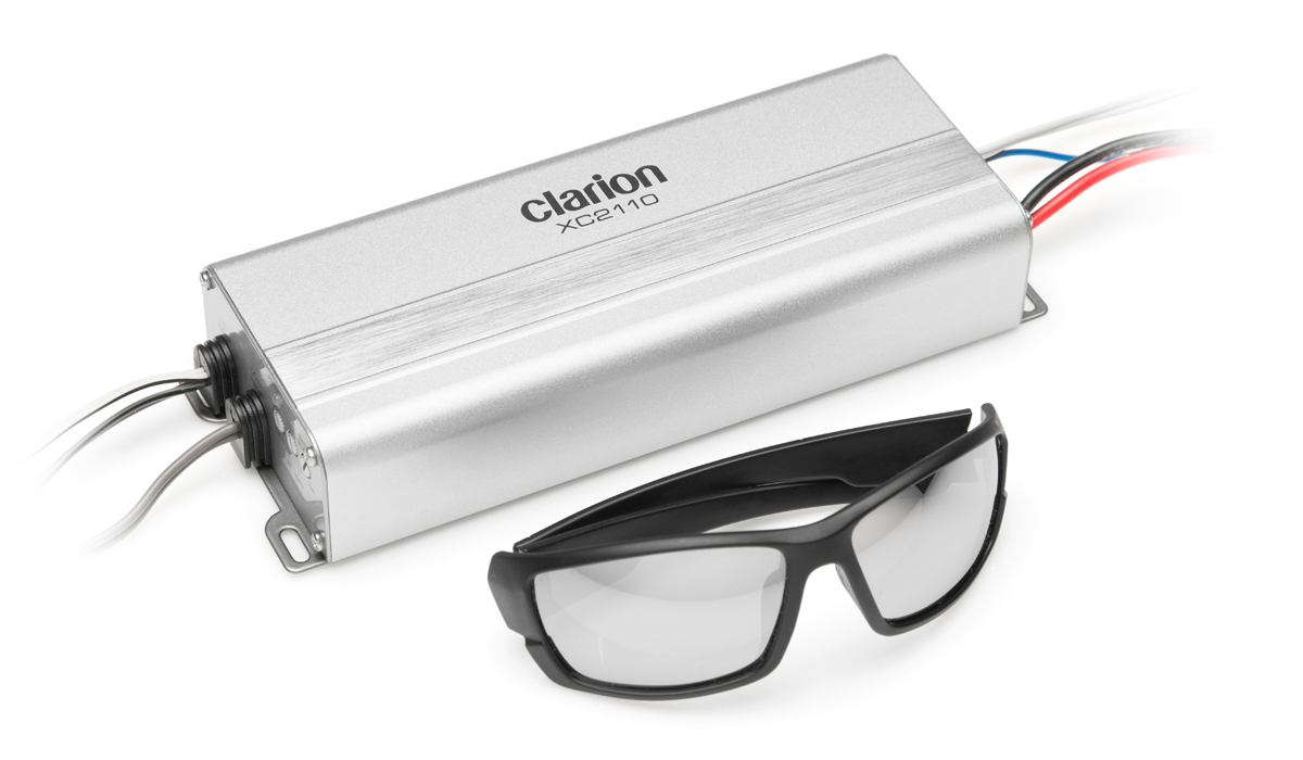 Clarion XC2110 Micro Size 400W Max Power Class D Mono Subwoofer Amplifier