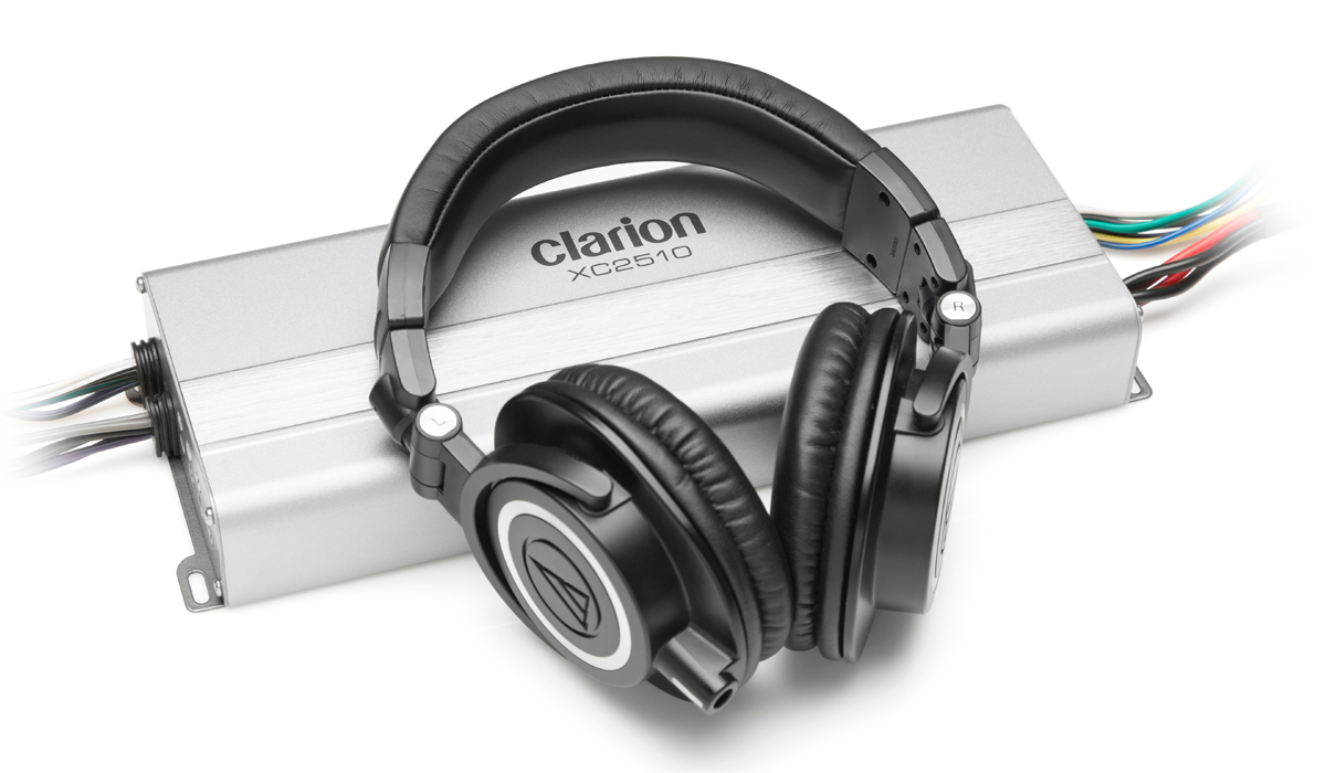 Clarion XC2510 Micro Size 50Wx4 RMS 4 ohms + 300Wx1 RMS 2 ohms Class D 5-Channel Marine Amplifier