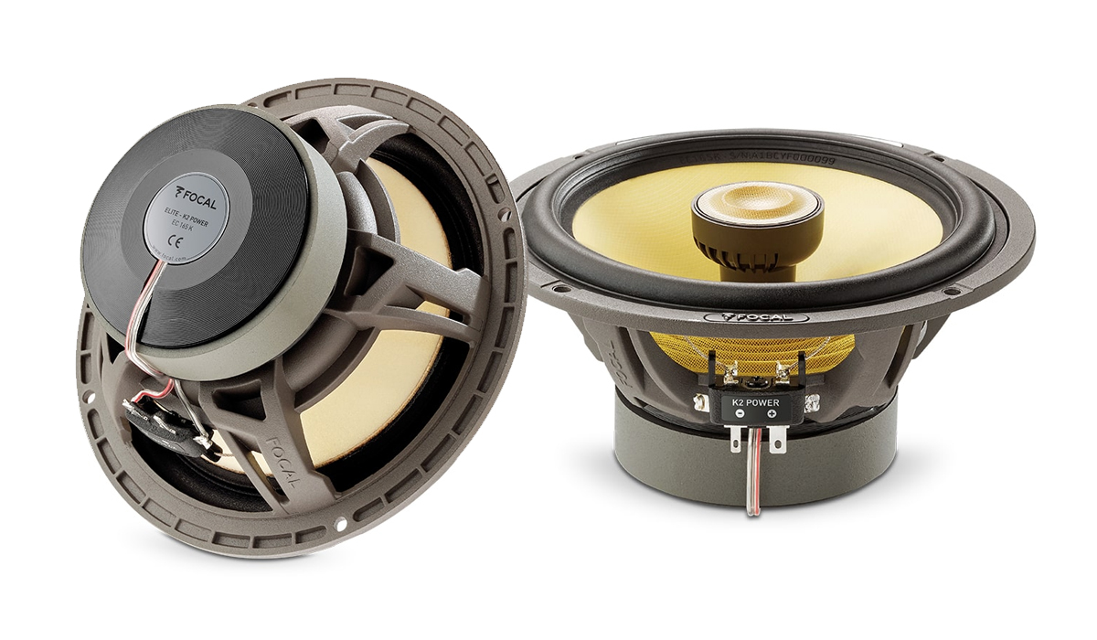 Focal EC 165 K K2 Power Series 6-1/2 inch 160 Watts Peak Power 2-Way Coaxial Speakers 4-ohm Impedance