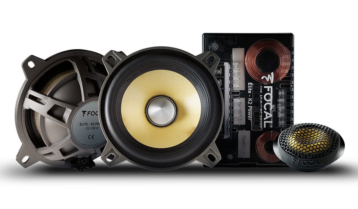 Focal EC 100 K K2 Power Series 4 inch 120 Watts Max Power 2-Way Component System 4-ohm Impedance