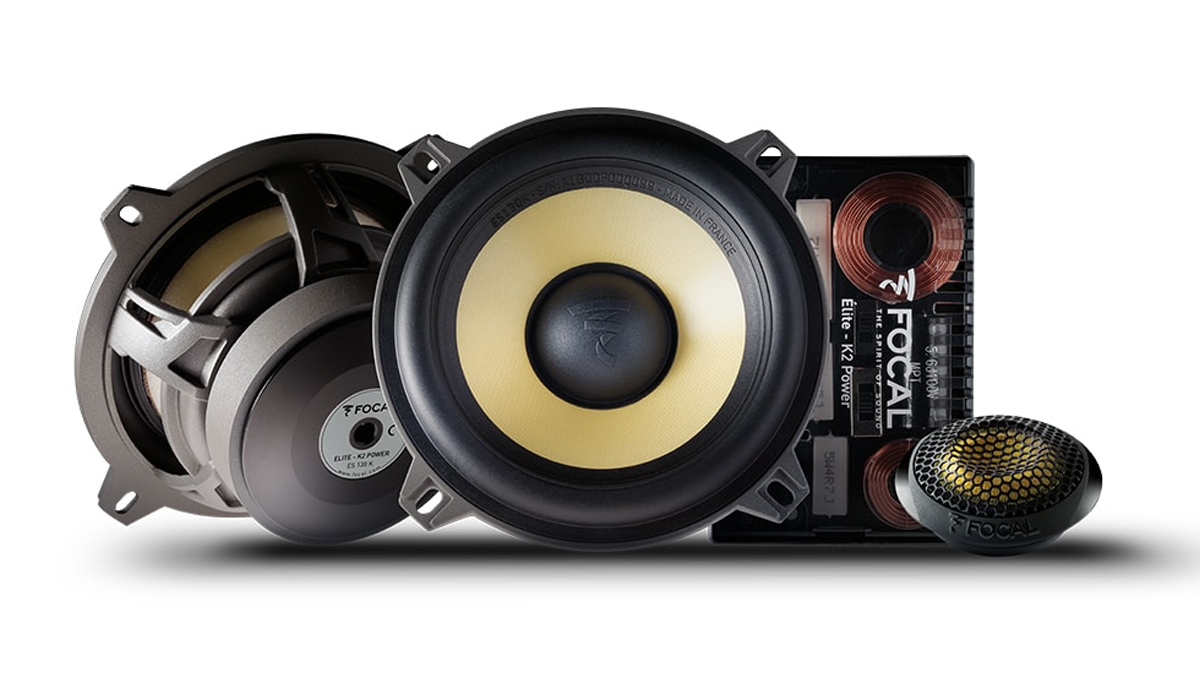 Focal ES 130 K K2 Power Series 5-1/4 inch 160 Watts Max Power 2-Way Component System 4-ohm Impedance