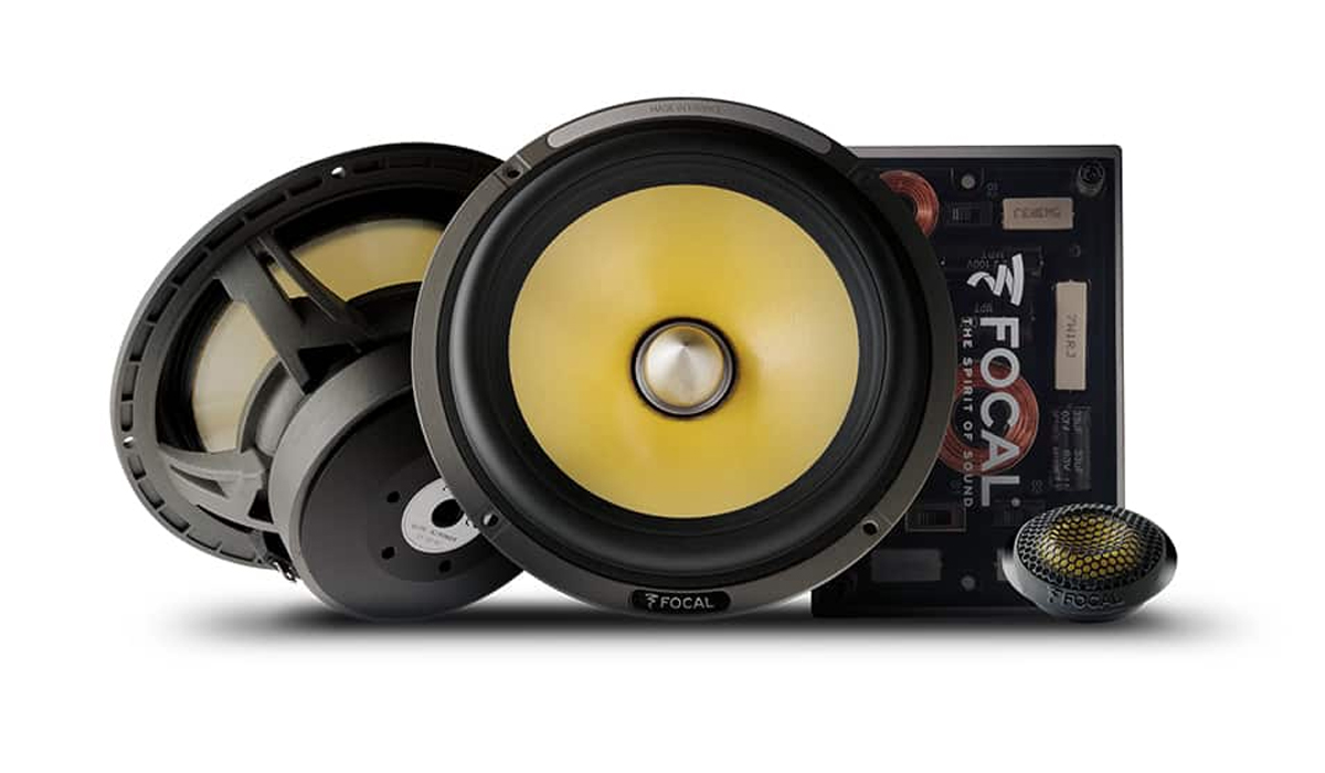 Focal ES 165 K2 K2 Power Series 6-1/2 inch 200 Watts Max Power 2-Way Component System 2-Ohm Impedance