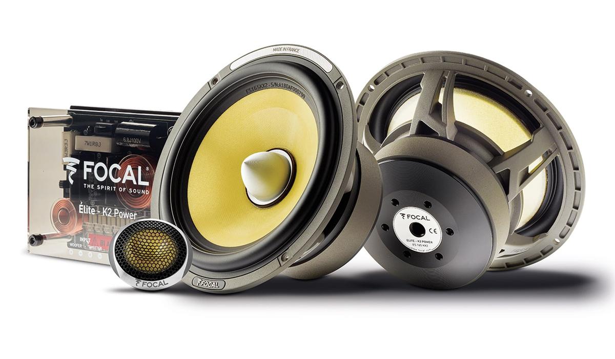 Focal ES 165 KX2 K2 Power Series 6-1/2 inch 240 Watts Peak Power Component Speaker System 2-Ohm Impedance