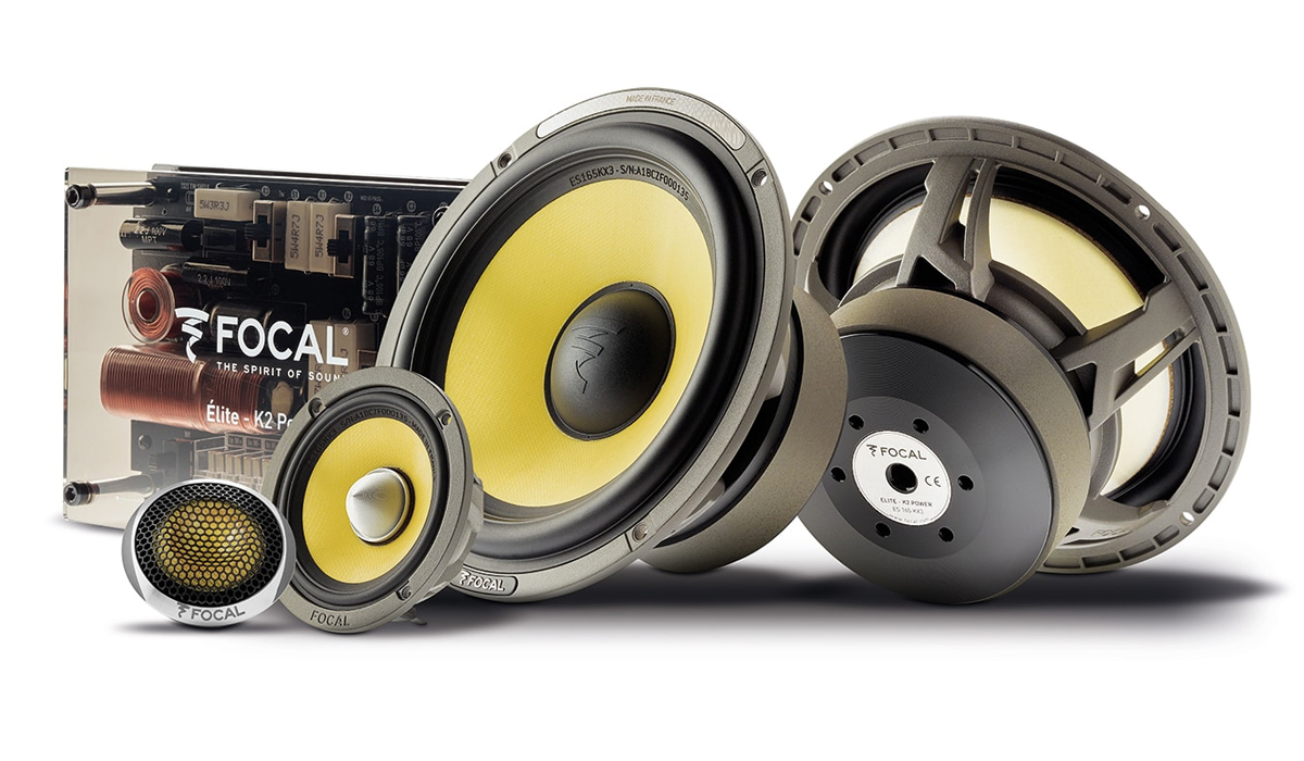 Focal ES 165 KX3 K2 Power Series 6-1/2 inch 240 Watts Max Power 3-Way Component System 4-ohm Impedance