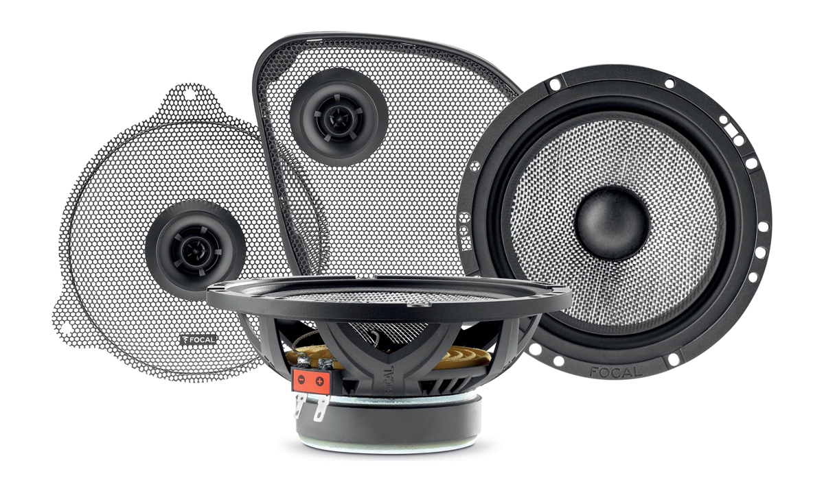 Focal HDA 165-2014 UP 6-1/2 inch 80W RMS (160W Peak Power) 2-Way Component Speaker Kit for 2014-Up Harley-Davidson Motorcycles