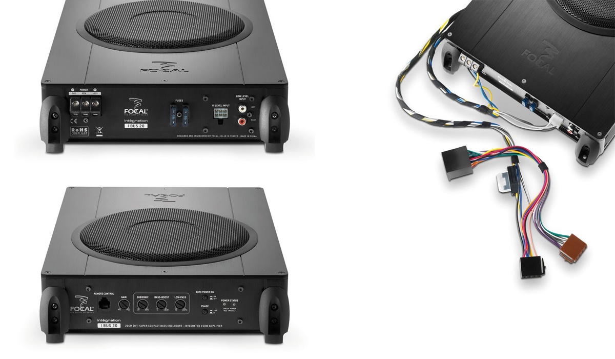 Focal IBUS 20 Plug & Play Integration 8 inch 150 Watts Max Power Flat Amplified Bass Enclosure