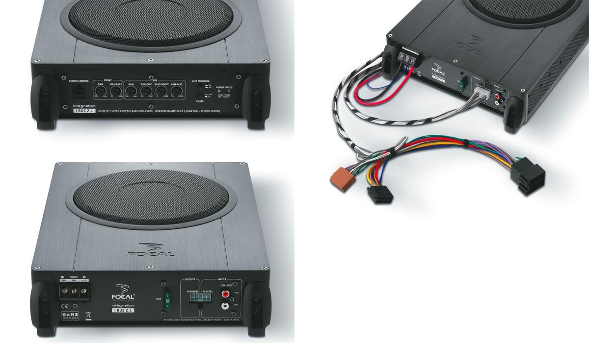 Focal IBUS 2.1 Plug & Play Integration 8 inch 150 Watts Max Flat Active Subwoofer Enclosure