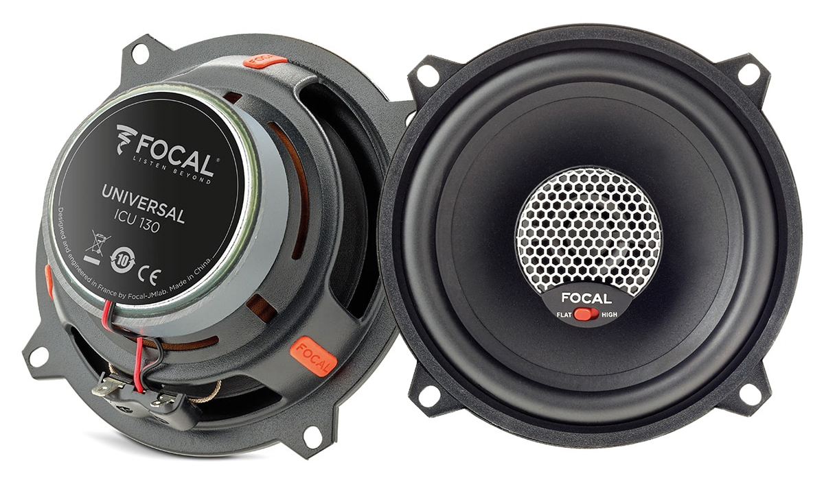 Focal ICU 130 Universal Integration 5 inch 120 Watts Max Power 2-Way Coaxial Speakers 4-ohm Impedance