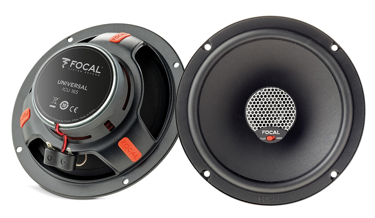 Focal ICU 165 Universal Integration 6-1/2 inch 140 Watts Max Power 2-Way Coaxial Speakers 4-ohm Impedance