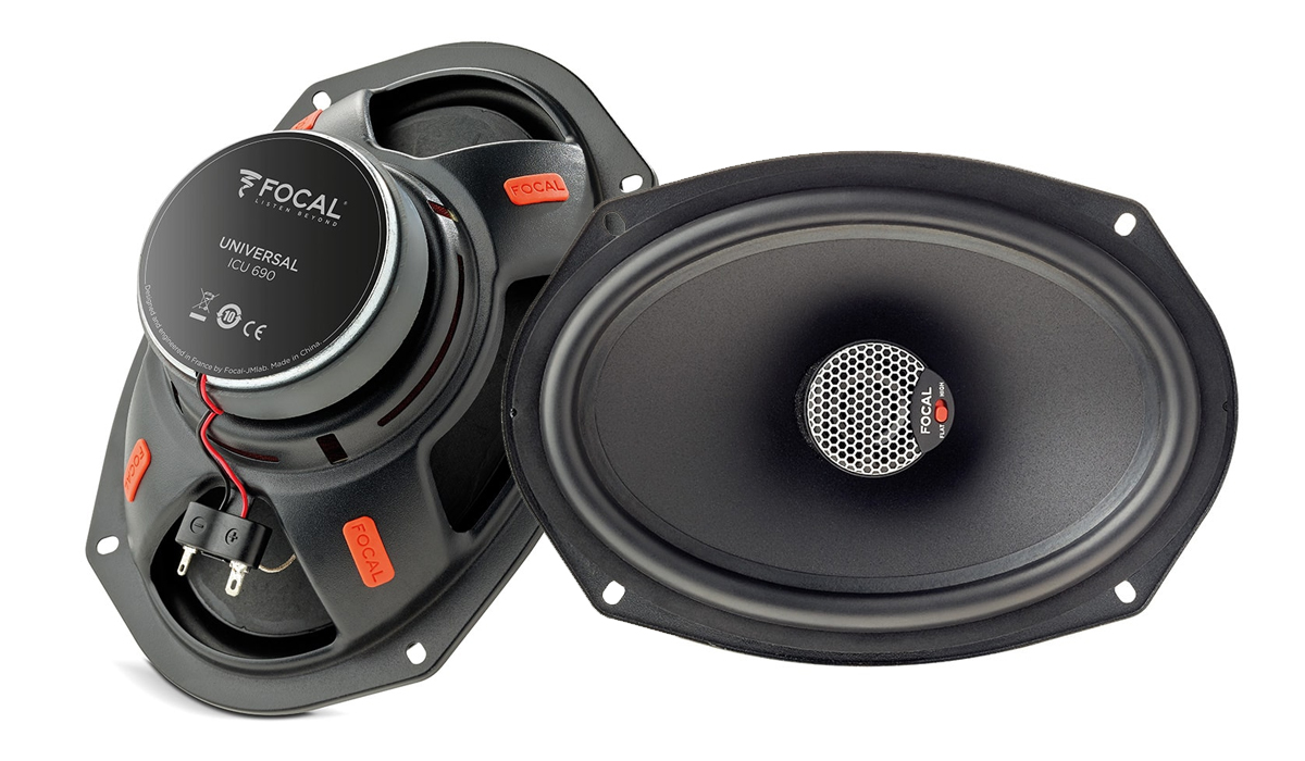 Focal ICU 690 Universal Integration 6x9 inch 160 Watts Max Power 2-Way Coaxial Speakers 4-ohm Impedance
