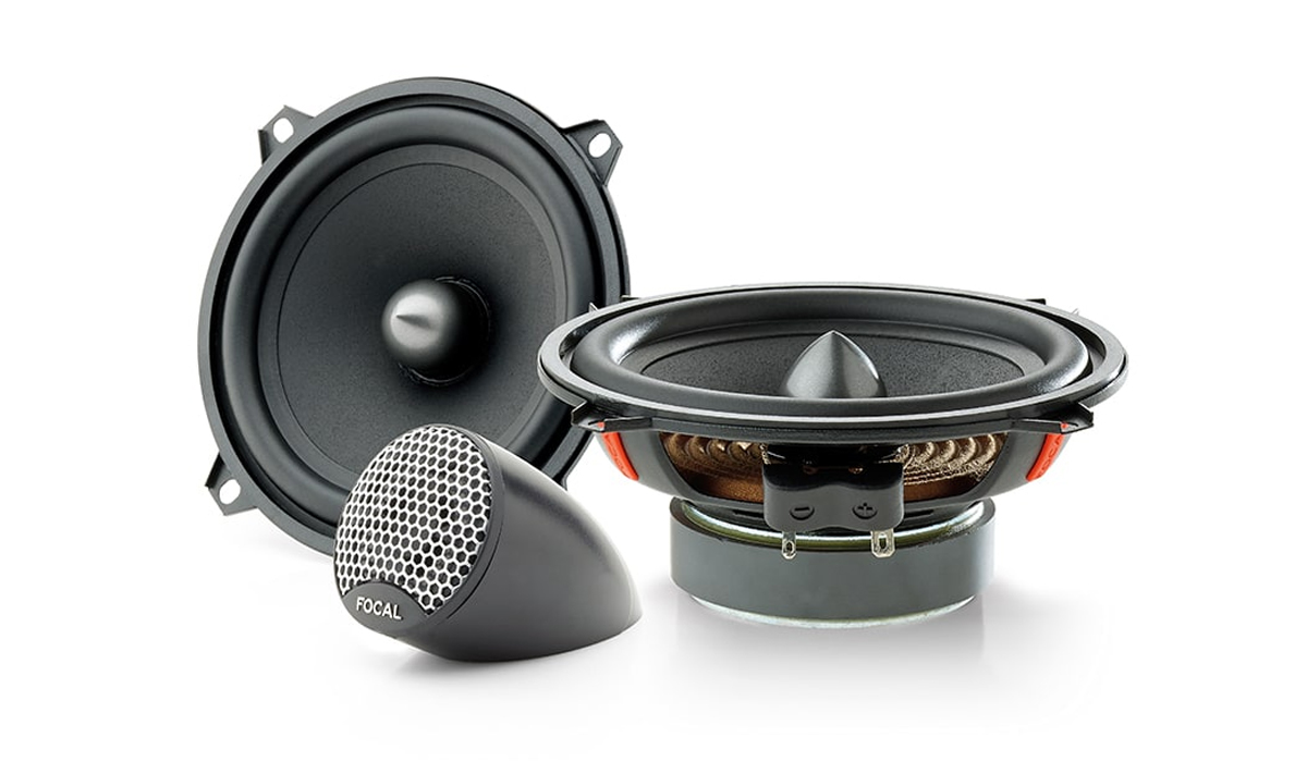 Focal ISU 130 Universal Integration 5 inch 120 Watts Max Power 2-Way Component Speaker System 4-Ohm Impedance