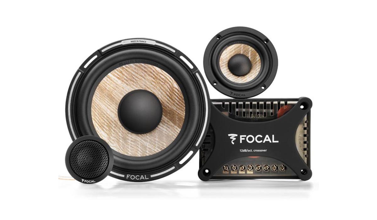 Focal PS 165 F3E Flax EVO 6-1/2 inch 80W RMS (160W Peak Power) 3-Way Component Speaker System