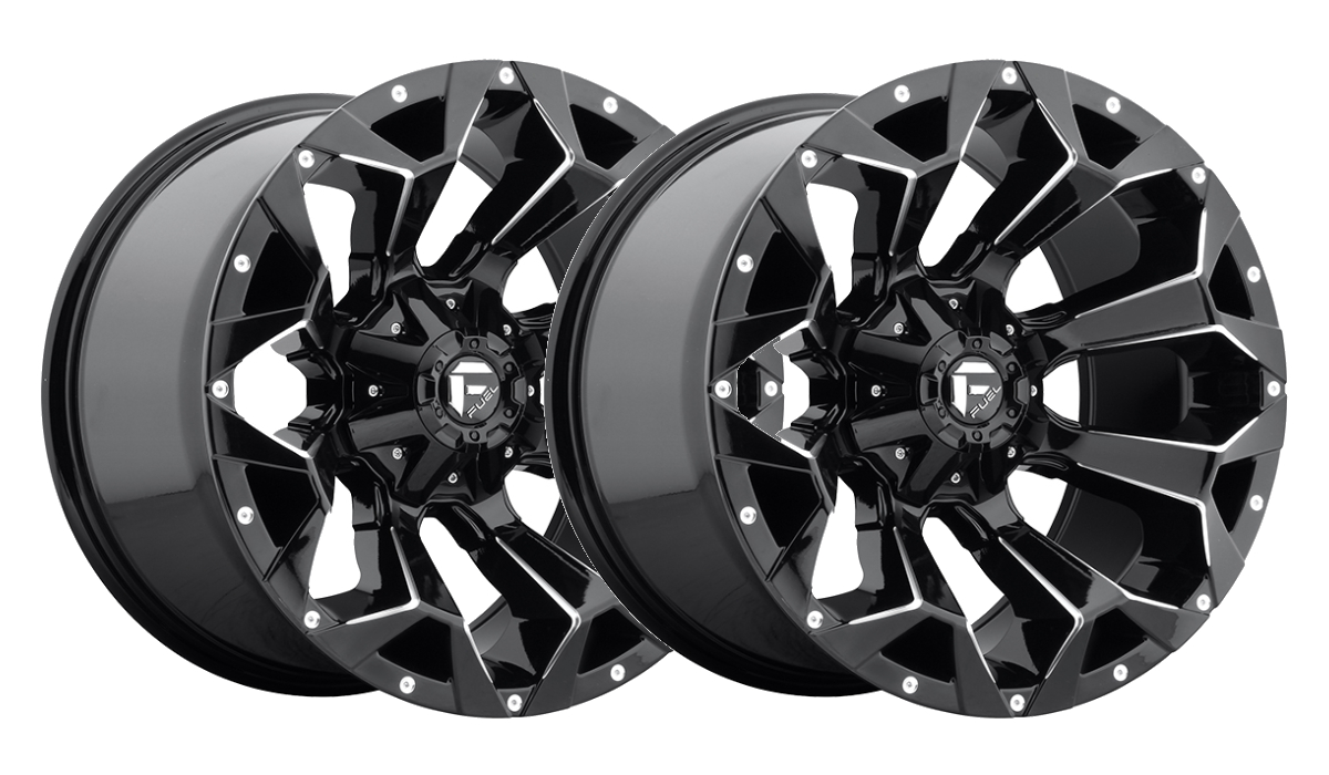 Fuel Gloss Black Milled Rims