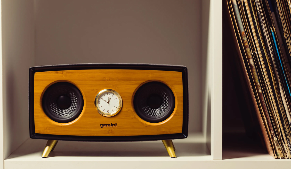 Gemini BRS-430 Handcrafted Portable Bluetooth Speaker w/ High Efficiency Full-Range Driver, Passive Radiator for Extra Bass