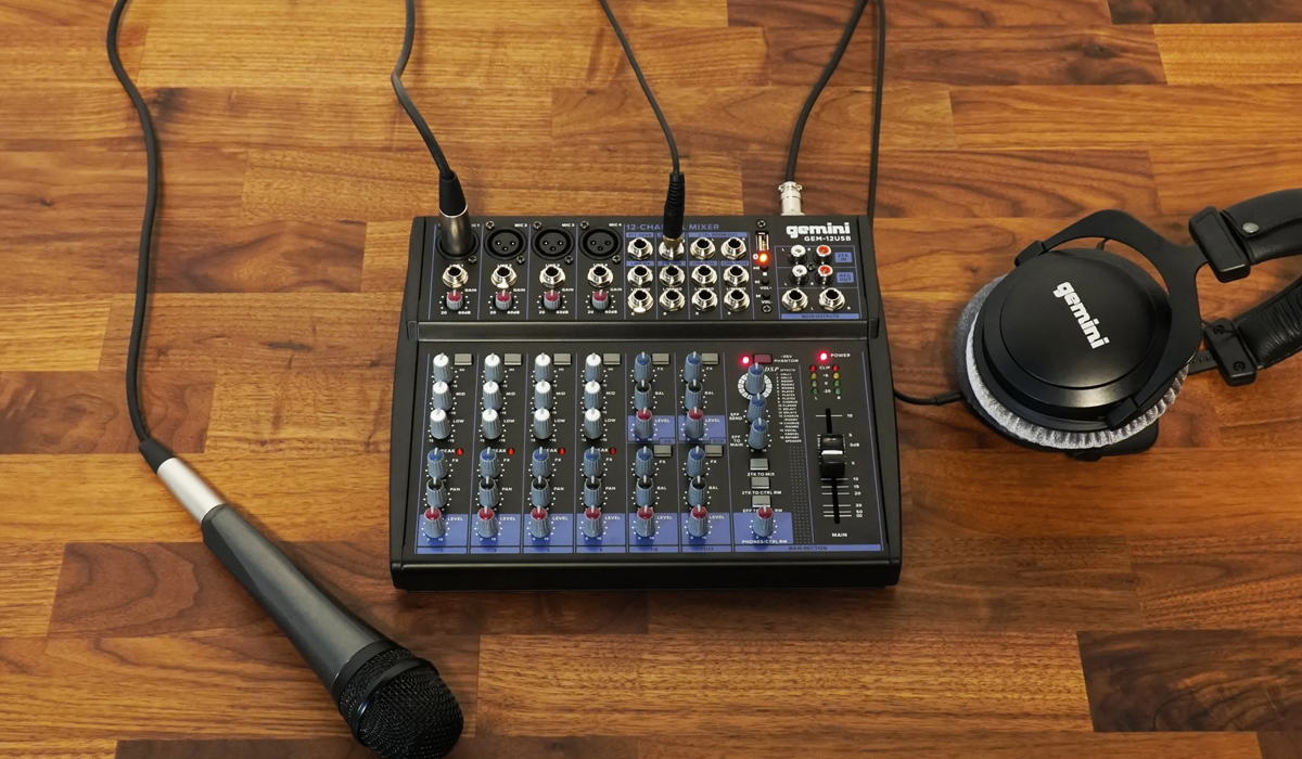 Gemini GEM-12USB Compact 12 Channel Bluetooth Mixer