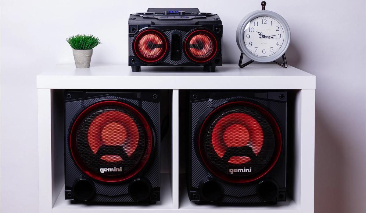 Gemini GSYS-2000 Dual 8 inch 800W Peak Power Bluetooth Party System