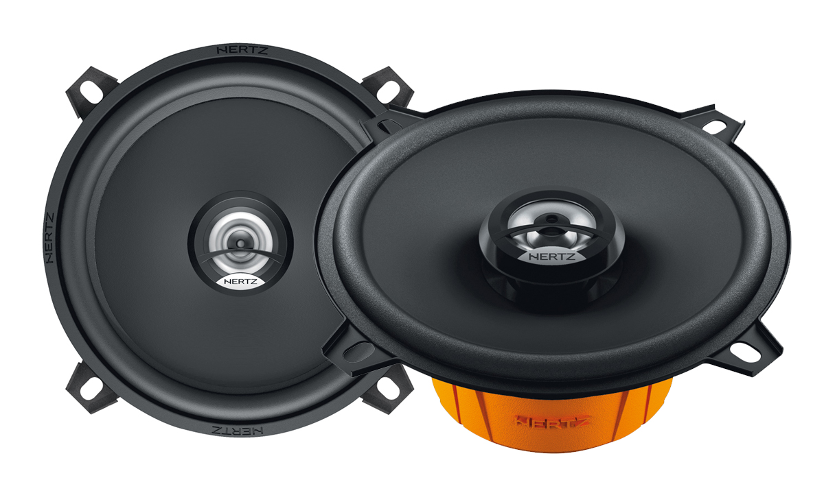 Hertz DCX 130.3 5-1/4 inch 40W RMS (80W Peak Power) 4-ohm Impedance 2-Way Coaxial Speakers