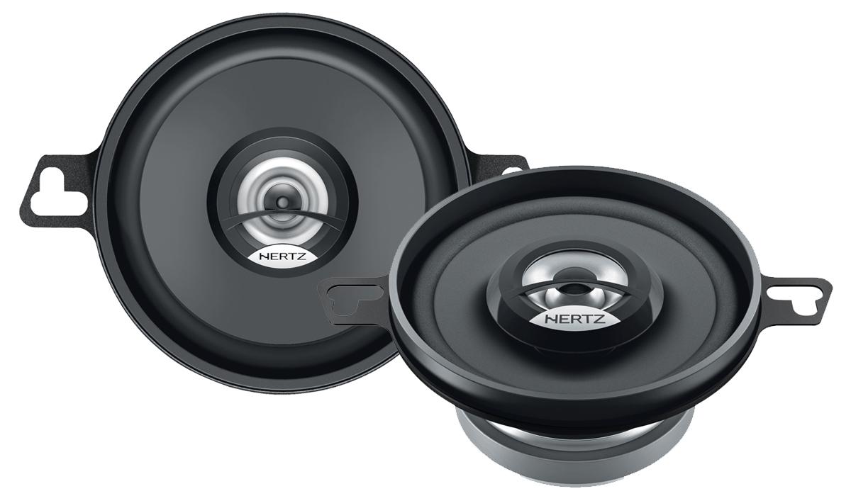 Hertz DCX 87.3 3-1/2 inch 30W RMS (60W Peak Power) 4-ohm Impedance 2-Way Coaxial Speakers