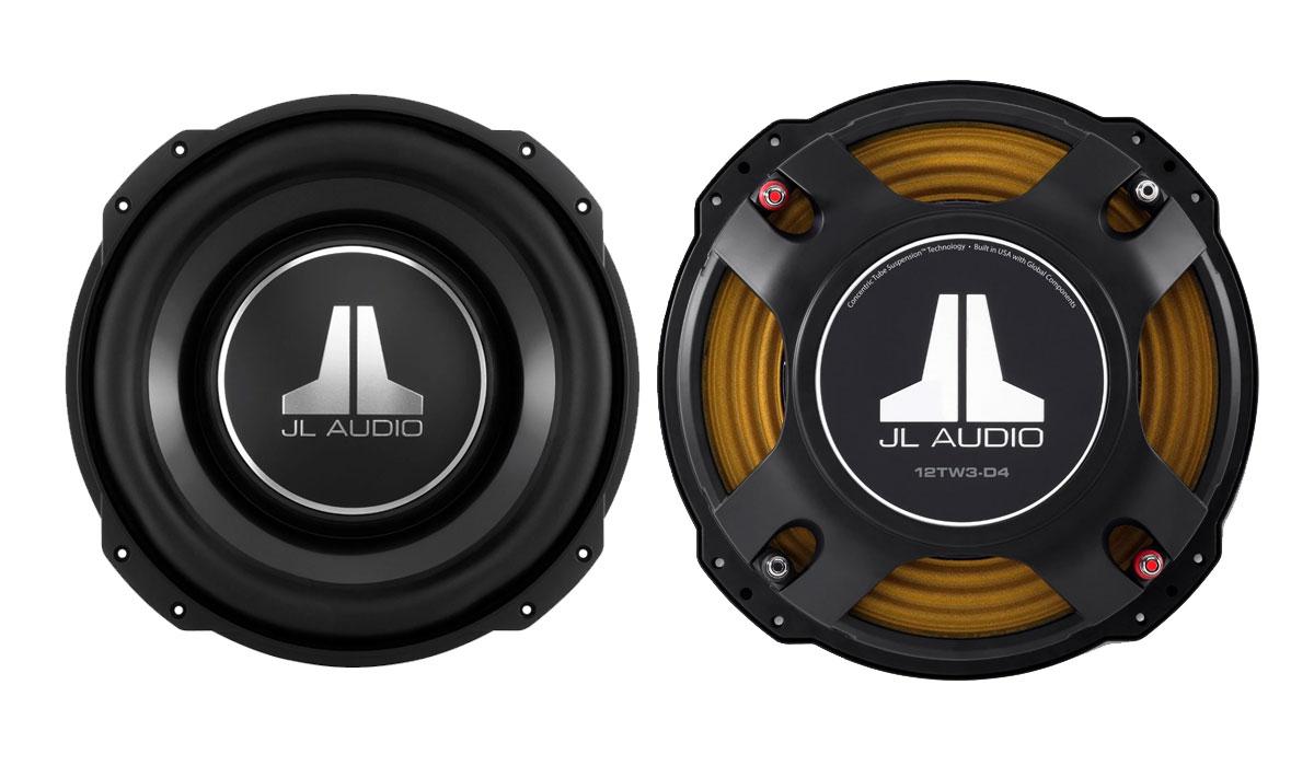 JL Audio 12TW3-D4 12 inch Dual 4Ω Subwoofer Driver