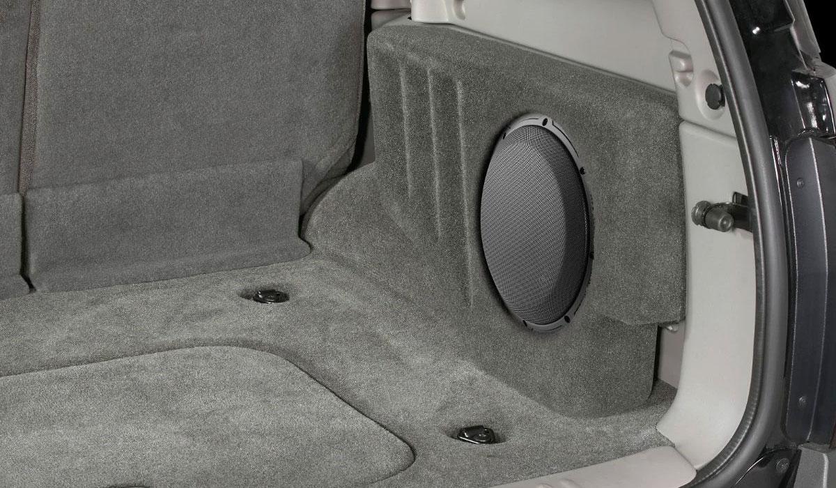 JL Audio SB-GM-TRLBLZR/10W3v3/DG Stealthbox® for 2005-2009 Chevrolet Trailblazer / GMC Envoy / Saab 9-7X & 2005-2007 Buick Rainier with Cashmere, Lt. Tan/Ebony or Ebony interior