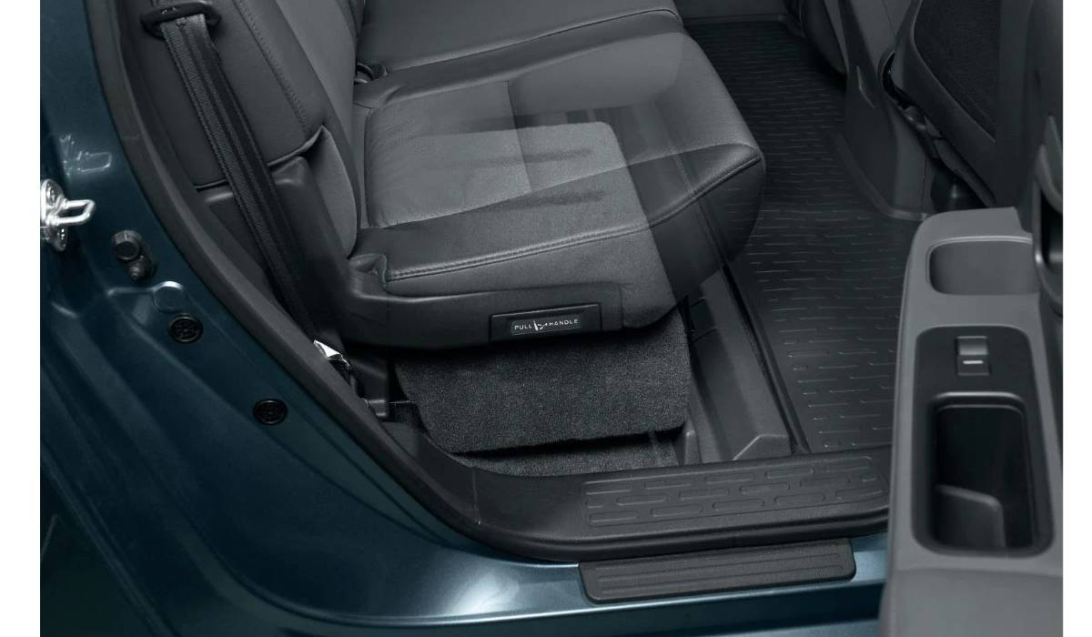 JL Audio SB-H-RIDGLNE/10W3v3/TN Stealthbox® for 2006-2014 Honda Ridgeline with Beige interior