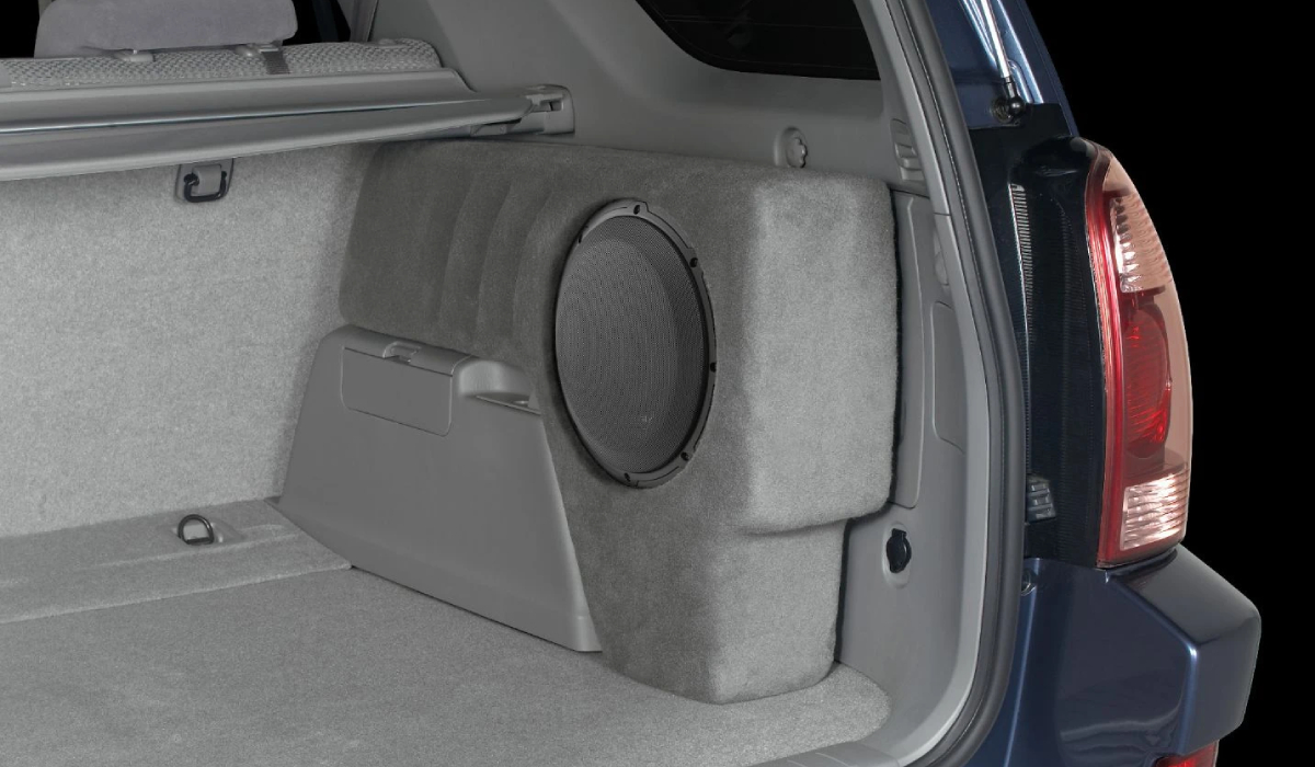 JL Audio SB-T-4RNR2/10W3V3/TP Stealthbox® for 2003-2009 Toyota 4-Runner with Taupe interior