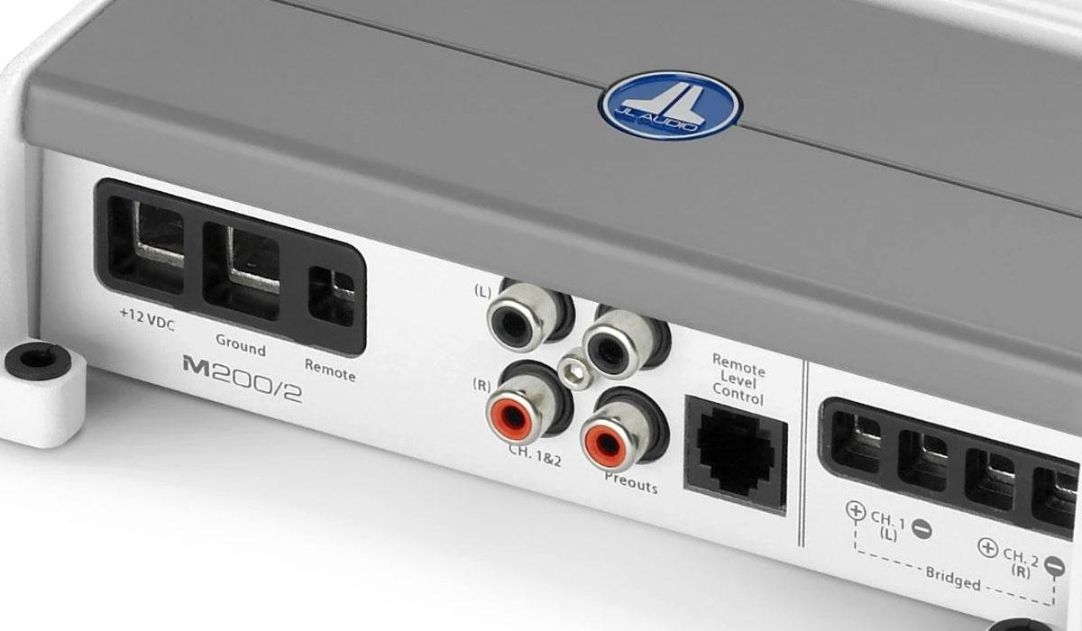 JL Audio M200/2 200 W 2 Ch. Class D Full-Range Marine Amplifier