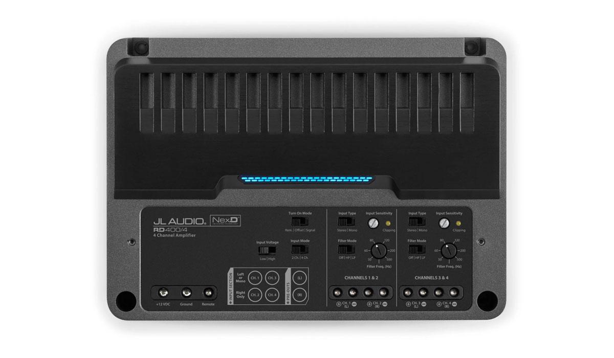 JL Audio RD400/4 4 Ch. Class D Full-Range Amplifier