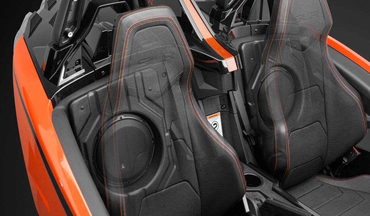 JL Audio SB-POL-SLINGSUBD/10W3v3-4 Stealthbox® for 2015-Up Polaris Slingshot, 4 Ω (Driver Side)