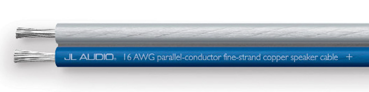 JL Audio XC-BCSC16-500 500 ft Spool of Blue/Clear 16 AWG Parallel Conductor Speaker Cable