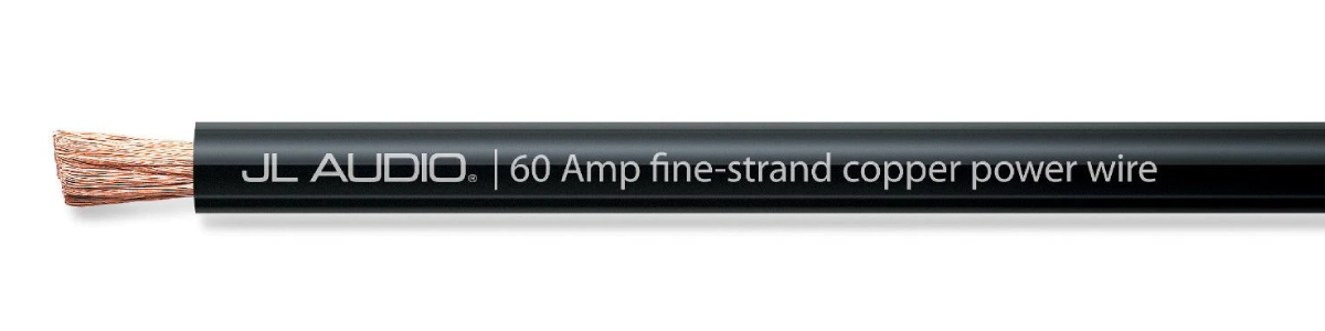 JL Audio XD-BPW60A-100 100 ft Spool of Black Power Wire 60 A capacity