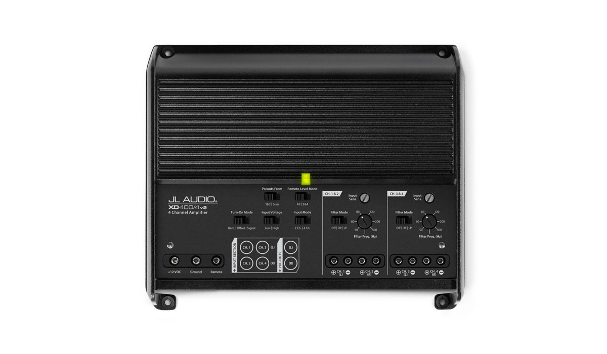 JL Audio XD400/4v2 4 Ch. Class D Full-Range Amplifier