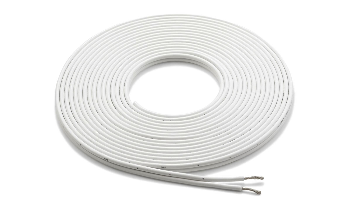 JL Audio XM-WHTSC12-25 25 ft White 12 AWG Parallel Conductor Speaker Cable