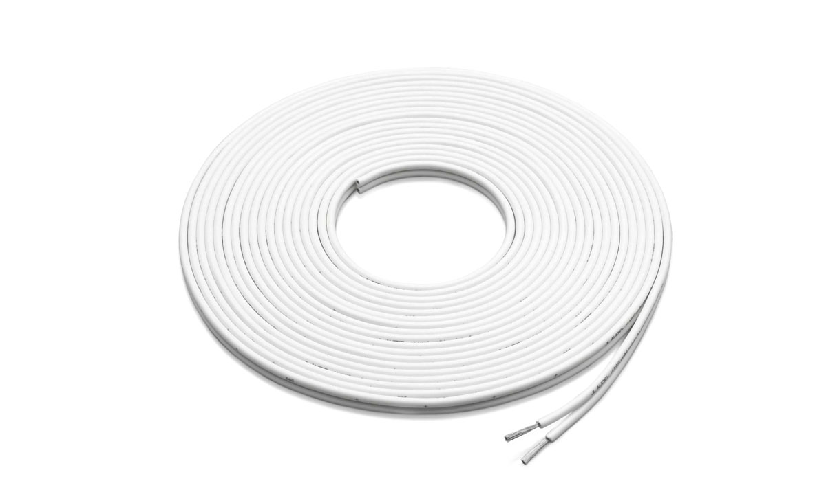 JL Audio XM-WHTSC16-25 25 ft White 16 AWG Parallel Conductor Speaker Cable