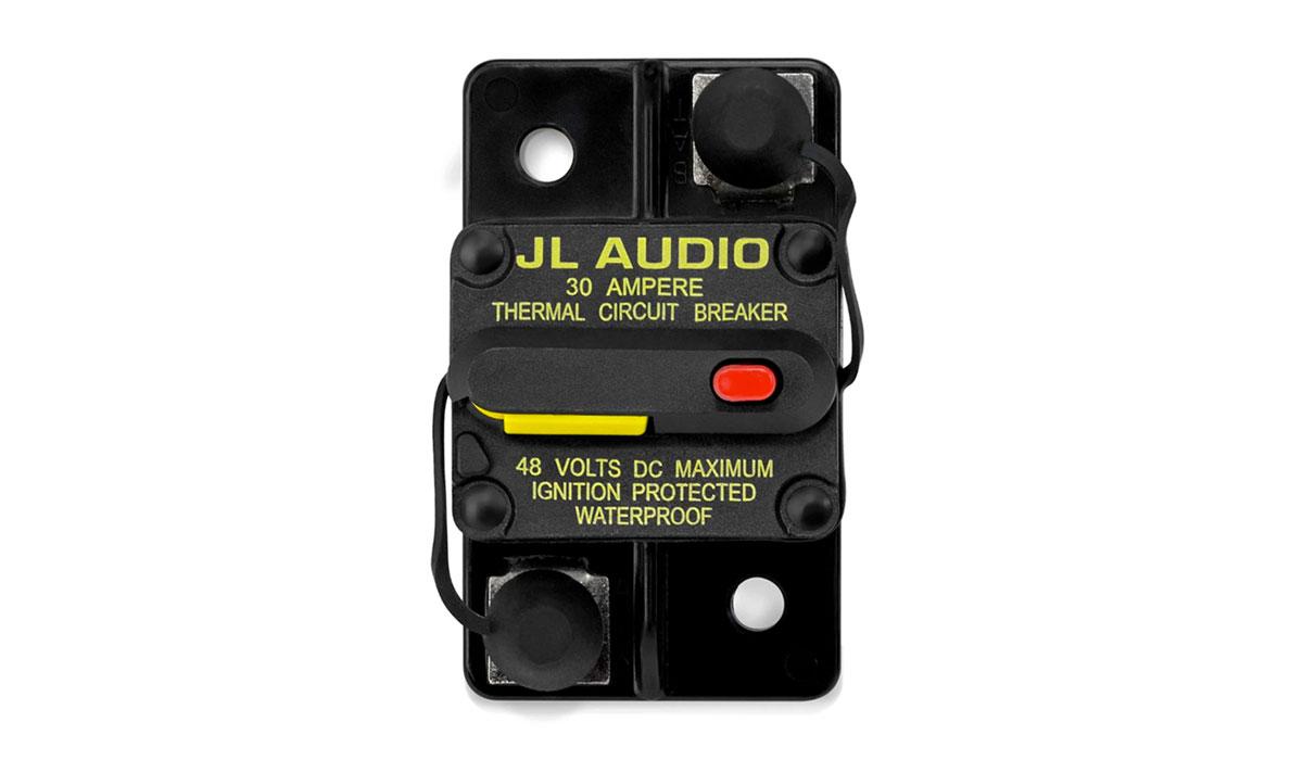 JL Audio XMD-MCB-30 Waterproof, Ignition Protected Circuit Breaker: 30 Amp