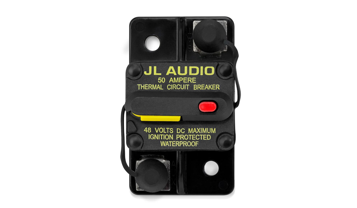 JL Audio XMD-MCB-50 Waterproof Ignition Protected Circuit Breaker: 50 Amp