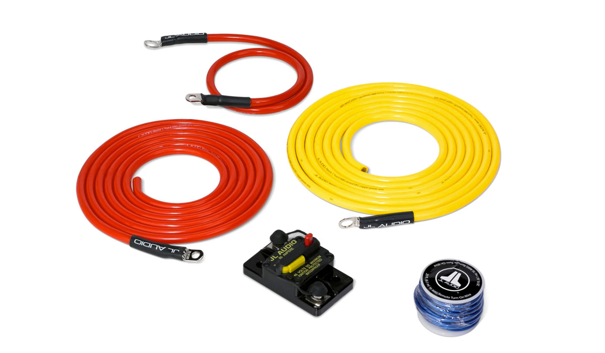 JL Audio XMD-PCS50A-1-L10 Premium 6 AWG 12V Power Marine Connection Kit, Single Amplifier, Within 10 ft of Battery