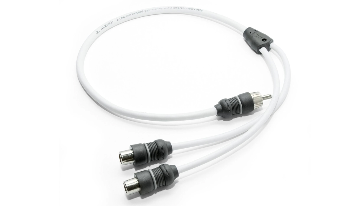 JL Audio XMD-WHTAICY-1M2F Marine Y-Adaptor, 1 Male Plug, 2 Female Jacks