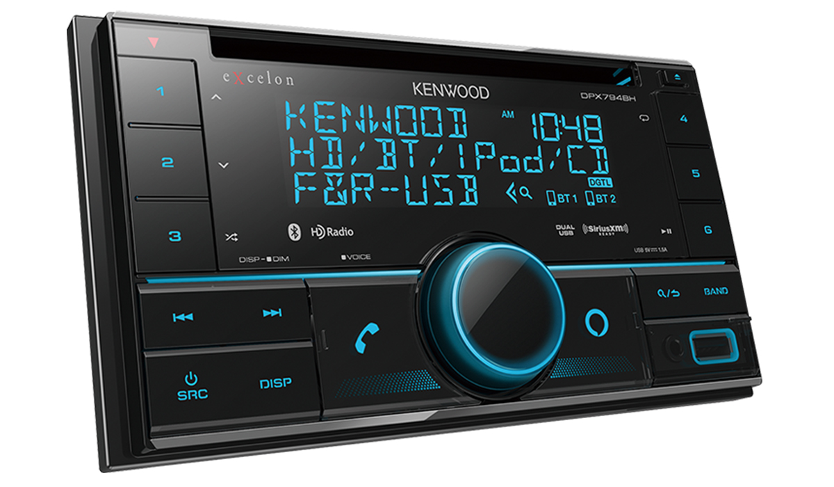 DPX794BH CD Receiver with Bluetooth, HD Radio, Alexa Built-in, Spotify and Pandora Internet Radio Link for iPhone or Android Phone, SiriusXM Ready