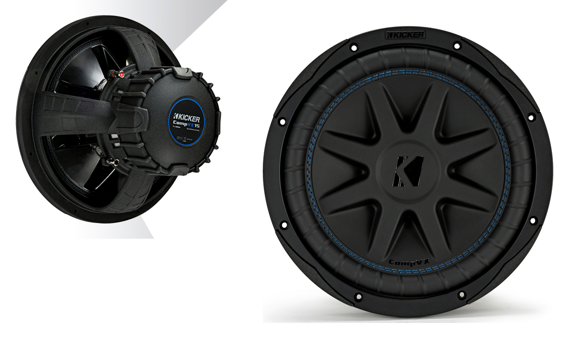 Kicker 44CVX154 CompVX Series 15 inch, DVC, 4-Ohm 1000 Watts Max Power Car Subwoofer